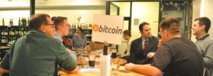 The Wine Spot Bitcoin Meetup - 3/5/2015. Photo Credit: Rebecca E. Groynom